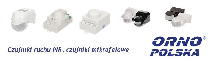 ORNO Czujniki ruchu PIR, czujniki mikrofalowe