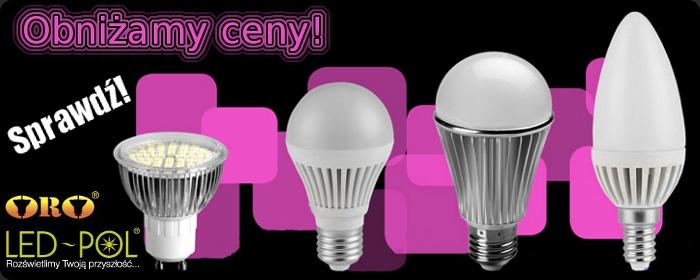 Obniżyliśmy ceny żarówek LED-POL na stałe, sprawdź!!