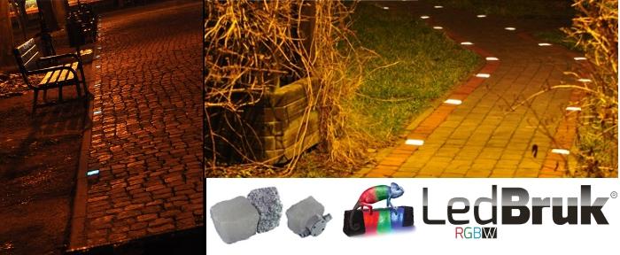 �wiec�ca kostka brukowa LED